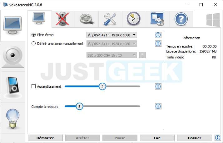 Interface VokoscreenNG