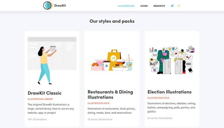 DrawKit : Illustrations gratuites