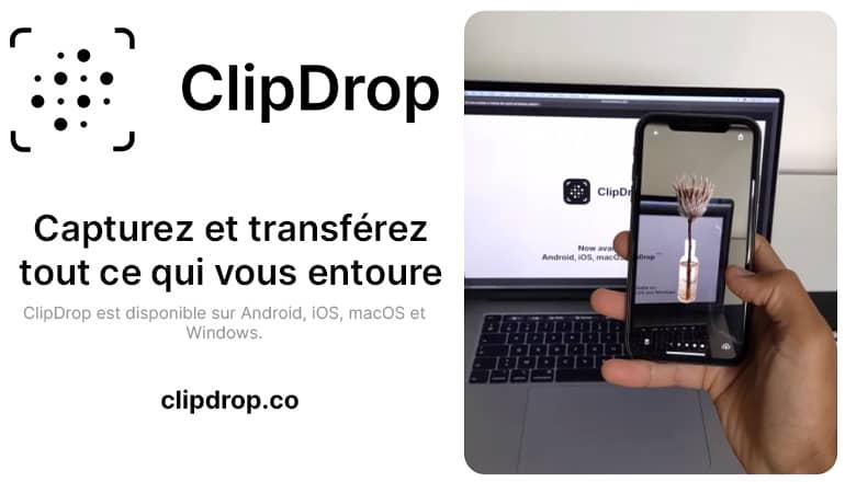 ClipDrop : Application détourage photo