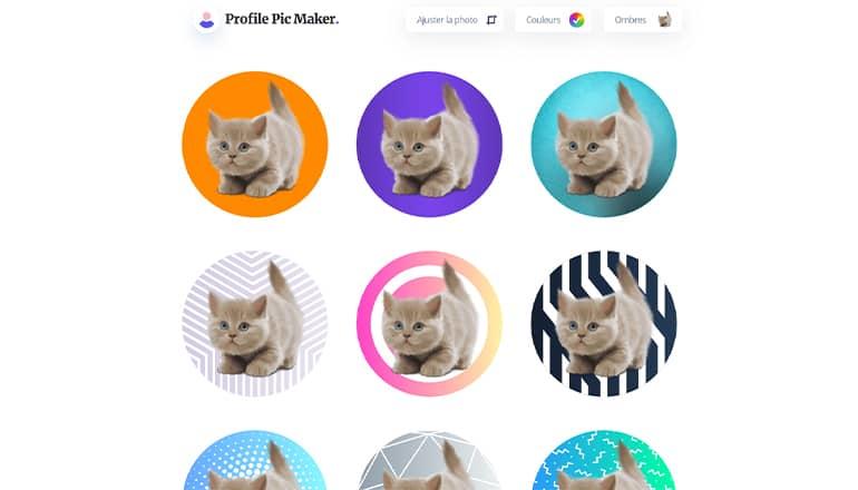 Créateur de photo de profil en ligne gratuit