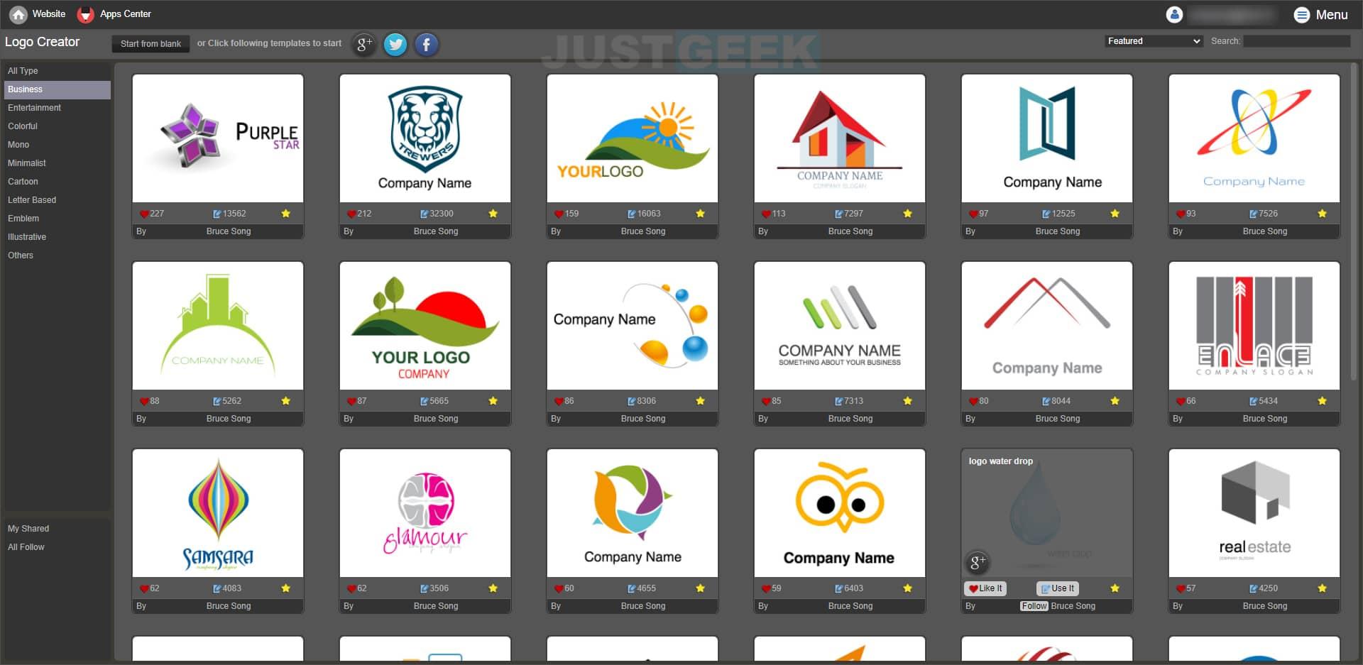 YouiDraw : Créer un logo en ligne gratuit