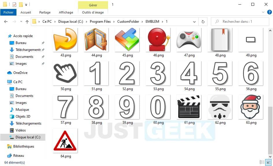 Ajouter de nouvelles icônes dans CustomFolder