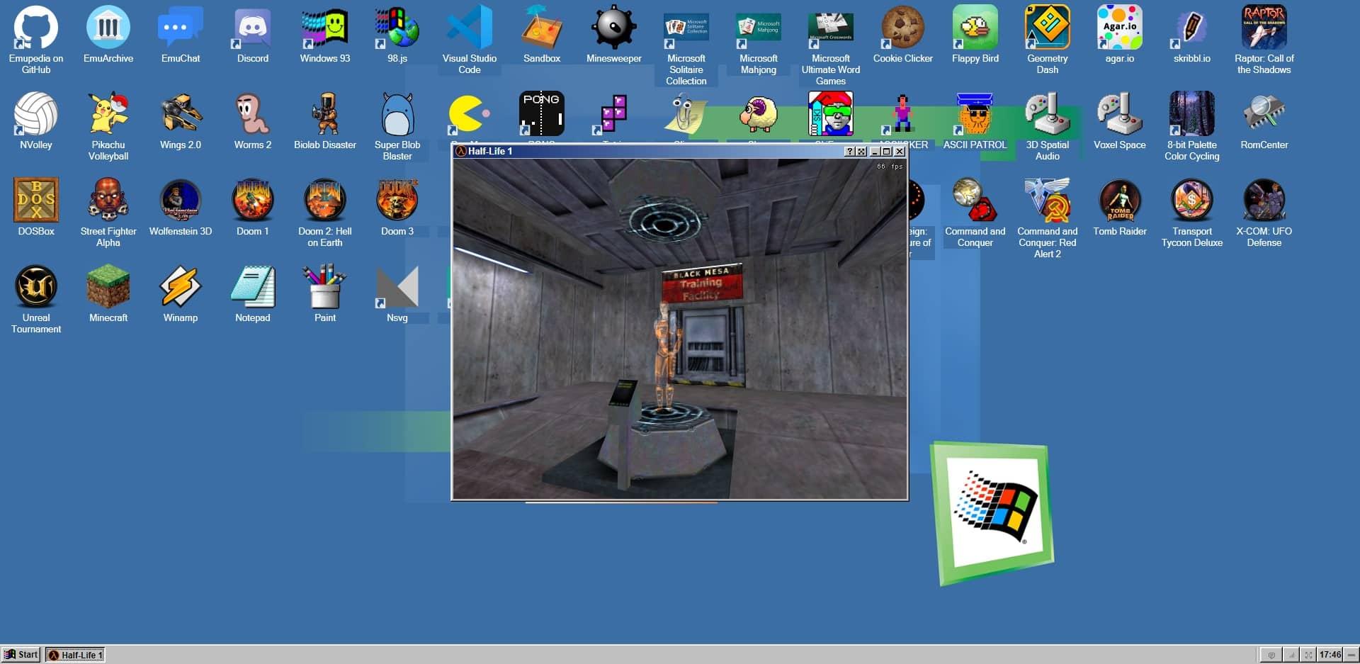 Half Life 1 jouable dans votre navigateur web avec EmuOS