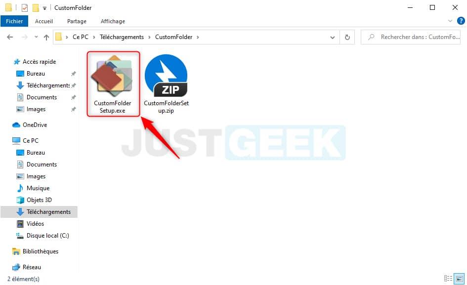 Installer CustomFolder