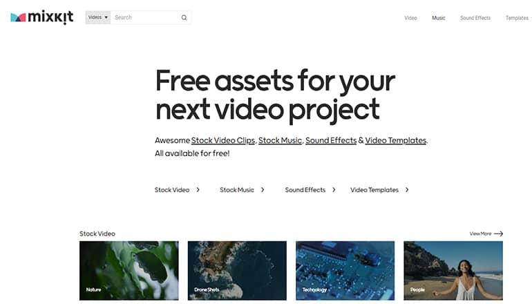 Mixkit : Ressources gratuites pour vos projets vidéo
