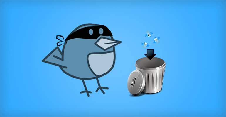 Supprimer rapidement ses anciens tweets