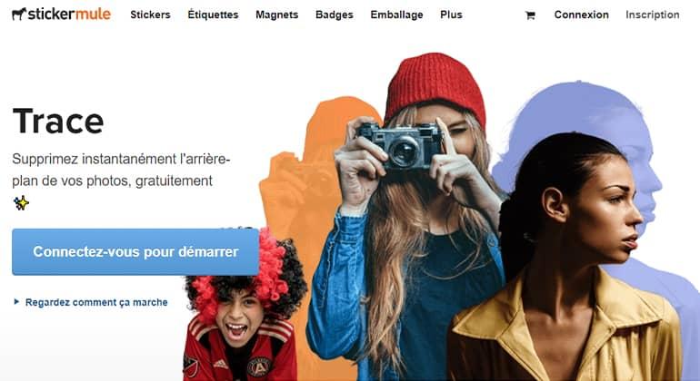 Trace, un outil en ligne gratuit pour supprimer l'arrière-plan de vos photos