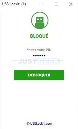 Déverrouiller une clé USB protégée par un mot de passe