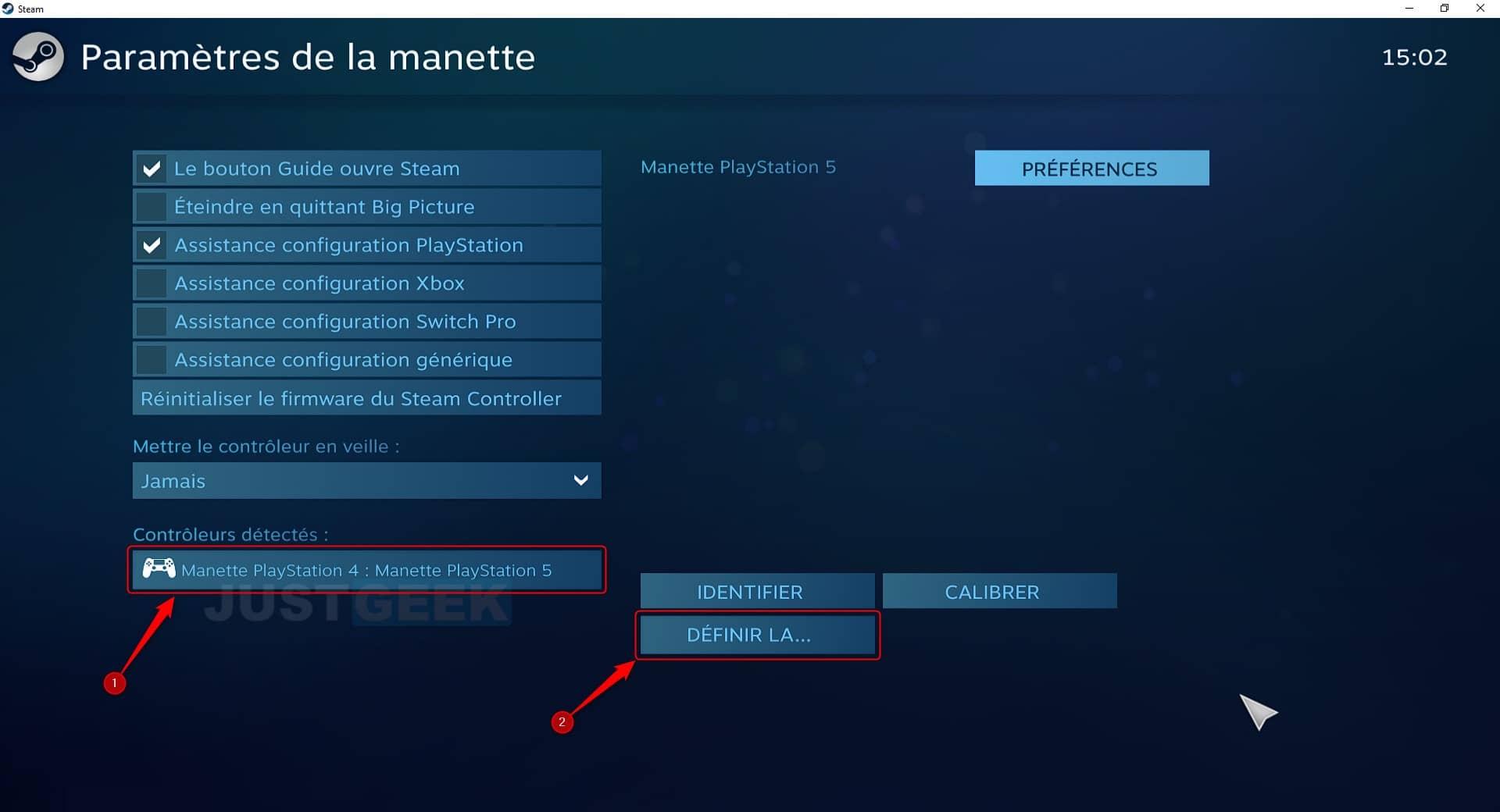 Ajouter la manette PS5 sur PC dans Steam