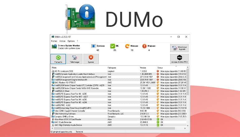 DUMo : Mise à jour pilotes PC