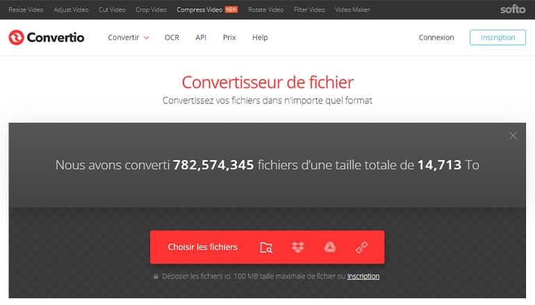 Convertio : Convertisseur fichier gratuit