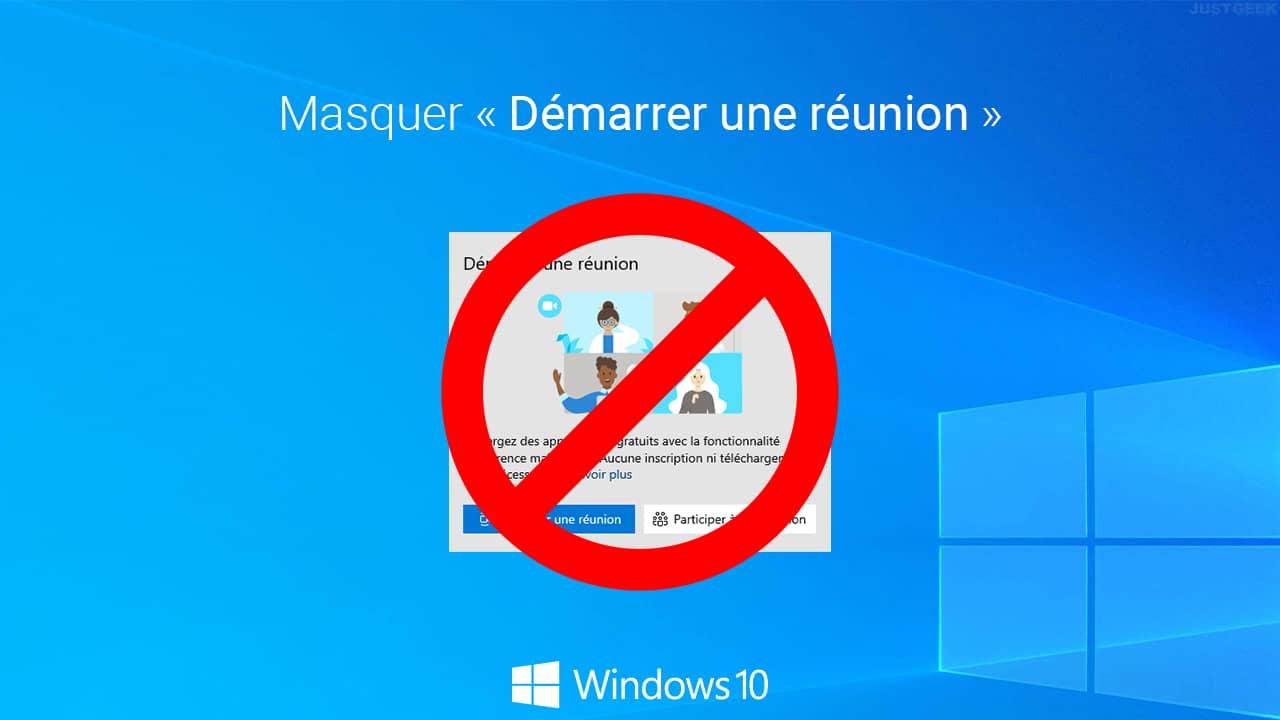 Masquer ou désactiver « Démarrer une réunion » dans Windows 10