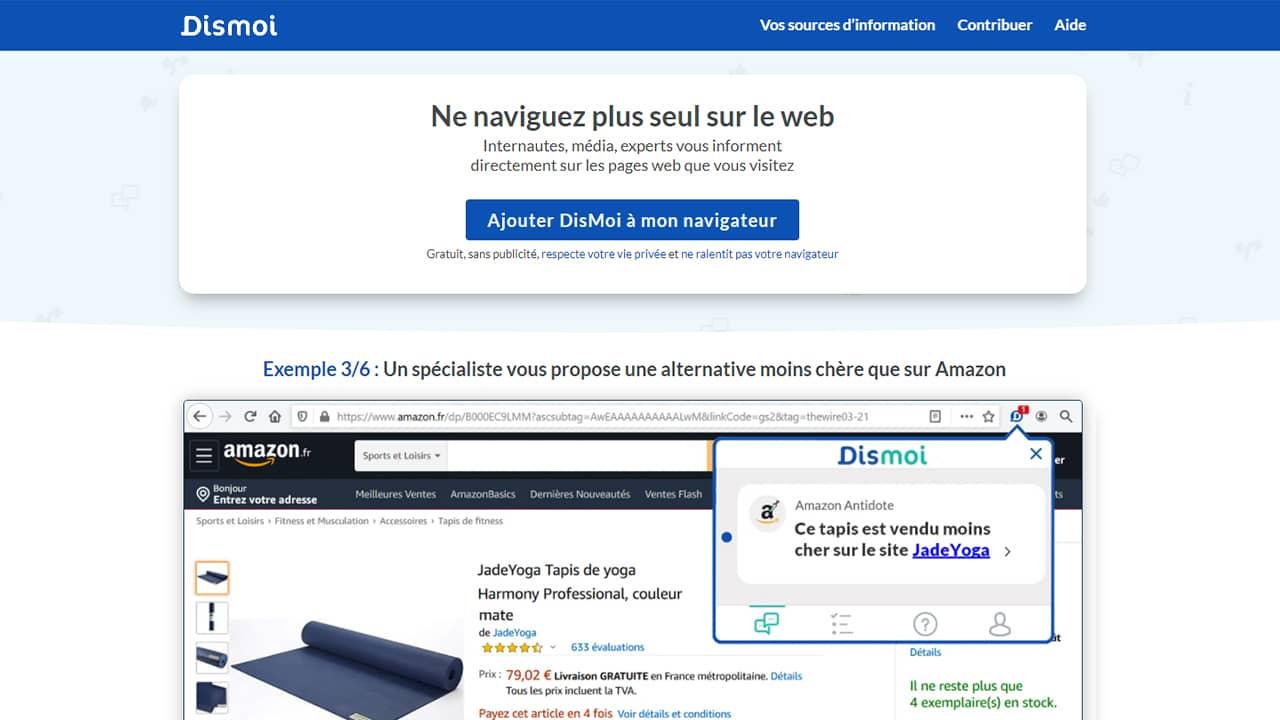 DisMoi.io : Ne naviguez plus seul sur le web