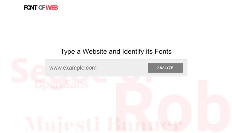 Font of Web : Trouver une police d'écriture sur un site web