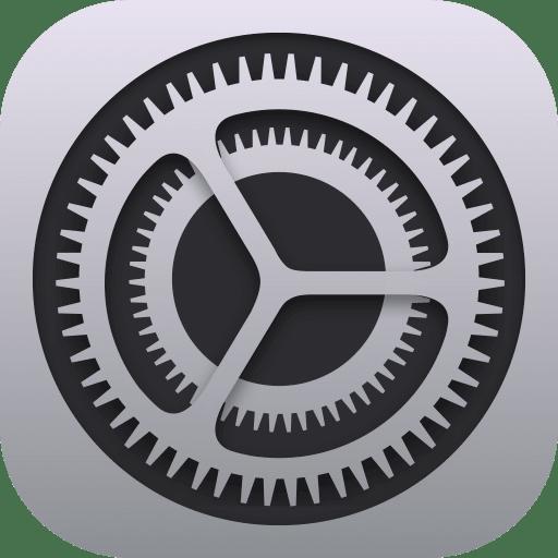Icône réglages iPhone
