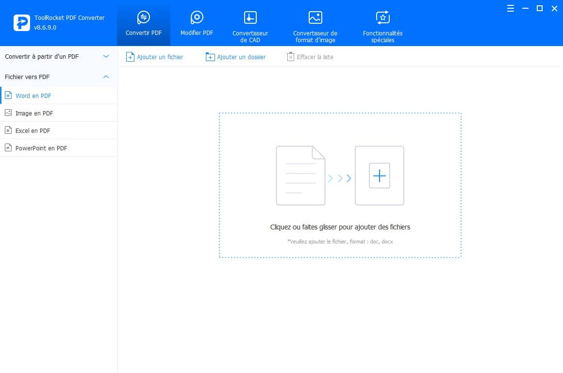 Convertisseur PDF ToolRocket PDF Converter