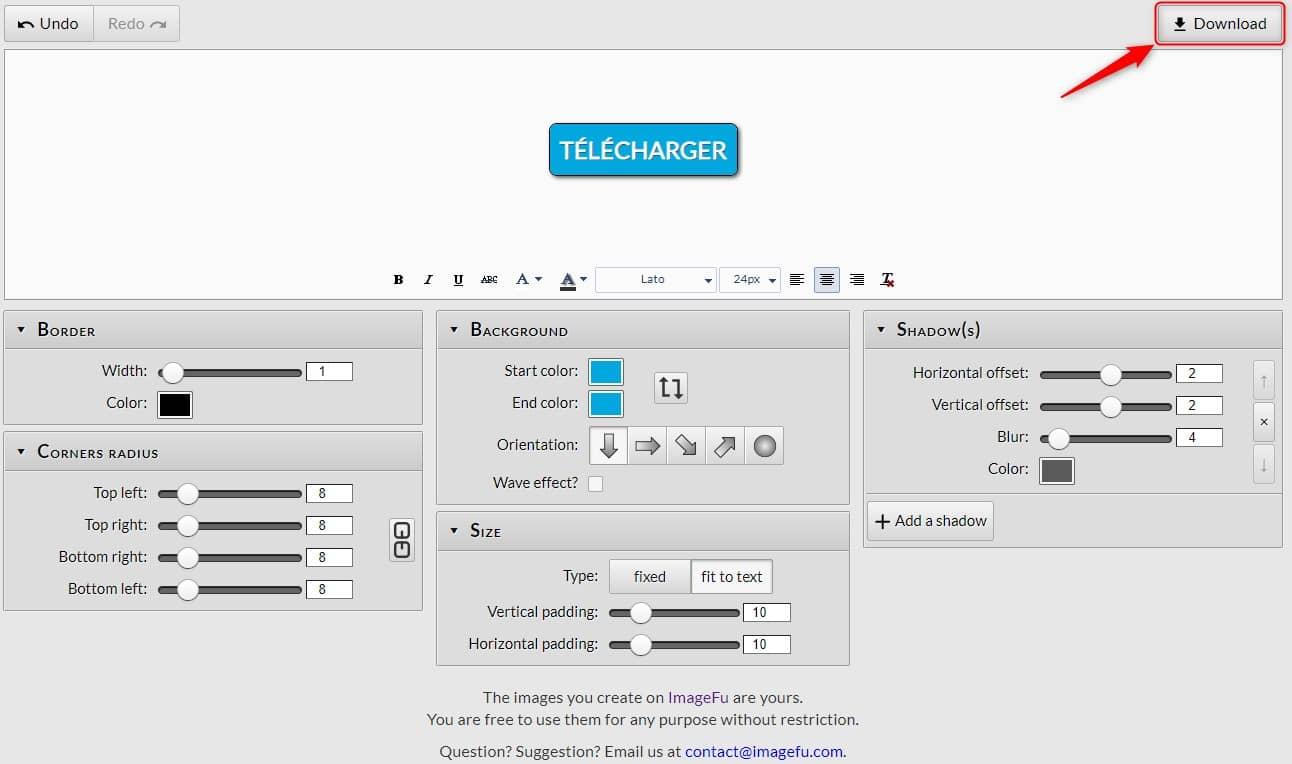 Créer un bouton PNG en ligne gratuit