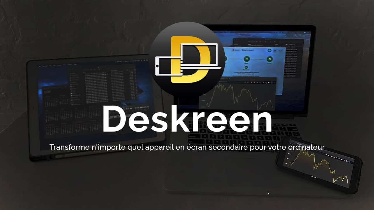 Deskreen : transformer une tablette en écran PC secondaire