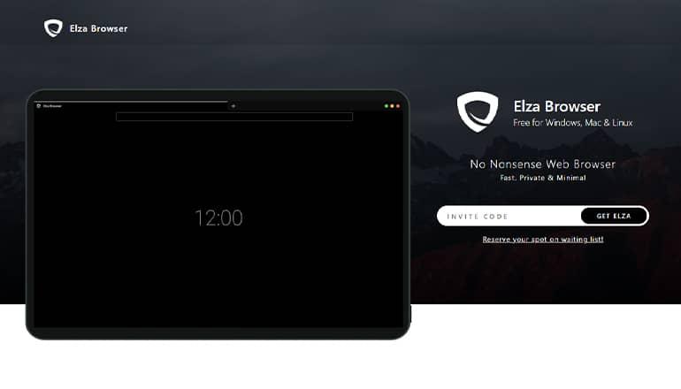Elza Browser, un navigateur web respectueux de la vie privée