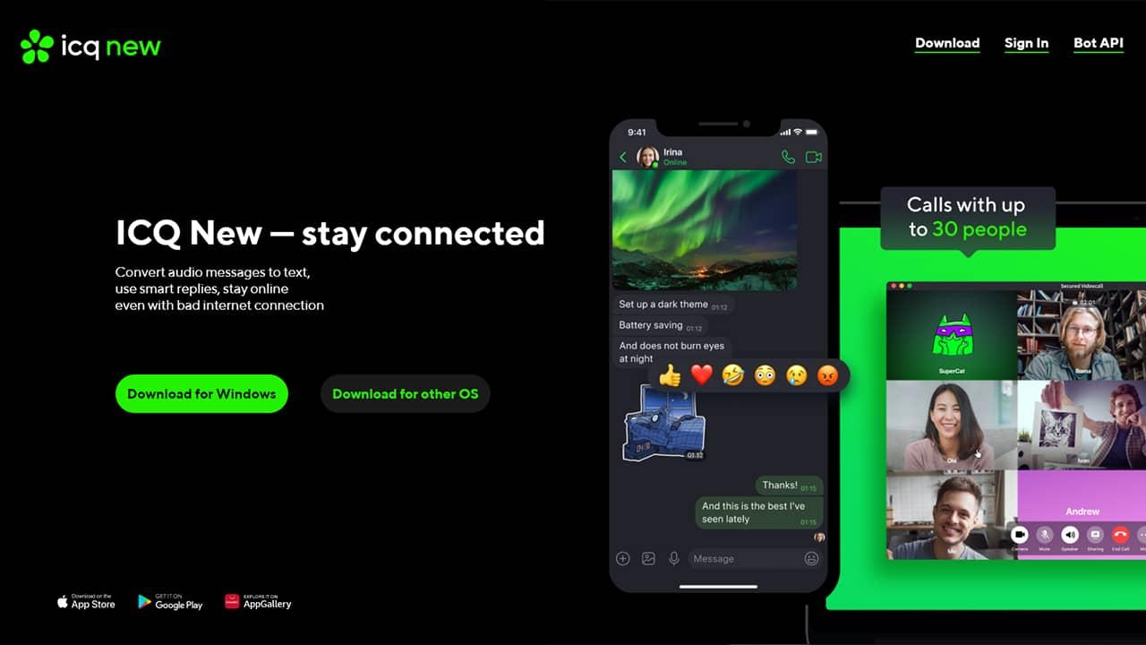 ICQ new : service de messagerie instantanée