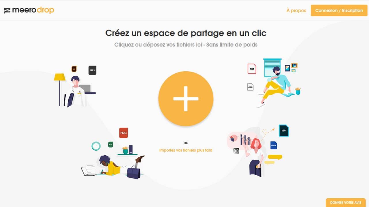 meerodrop : créer un espace de partage de fichiers