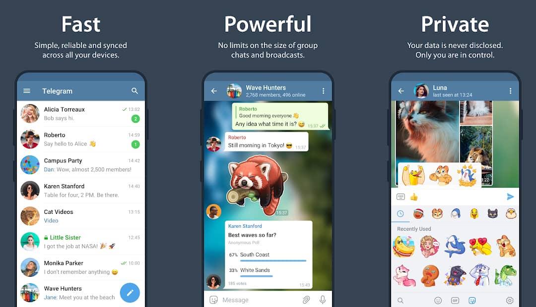 Telegram : application de messagerie instantanée