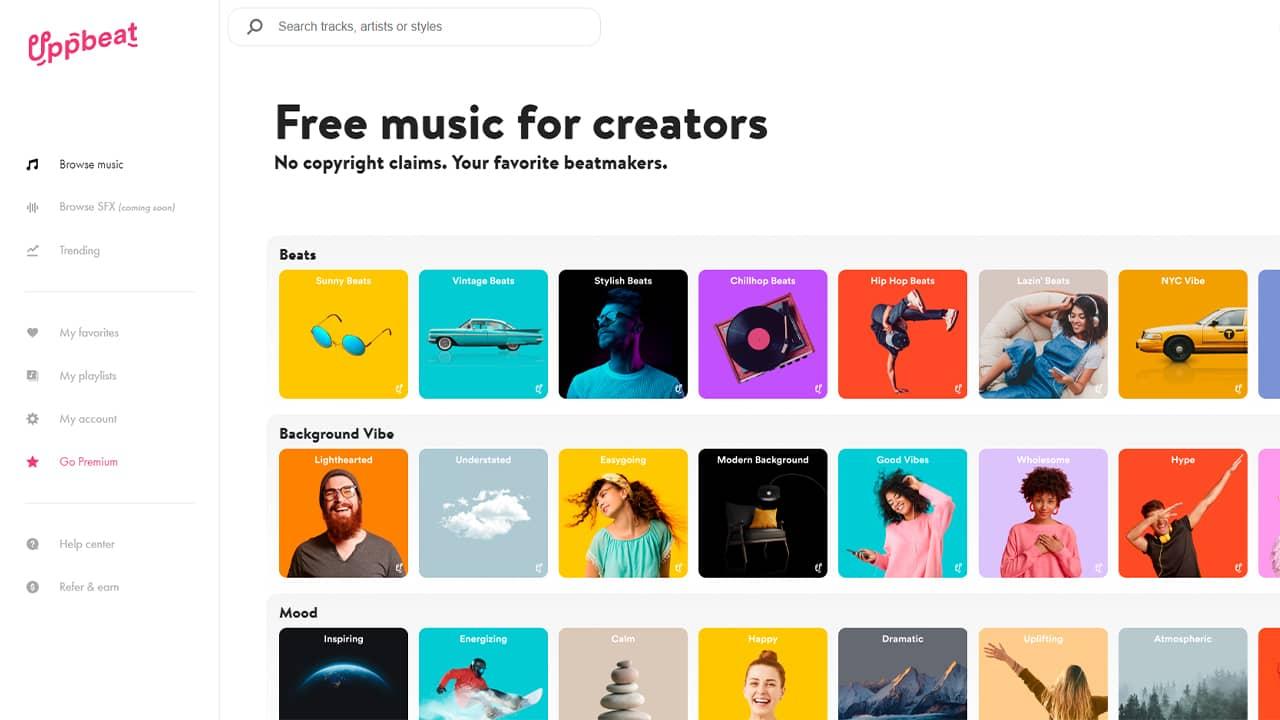Uppbeat : musique libre de droits pour vos vidéos YouTube