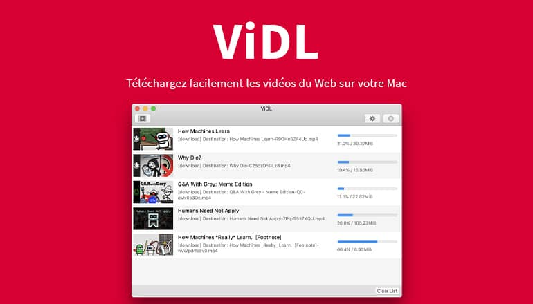 ViDL : Téléchargez facilement les vidéos du Web