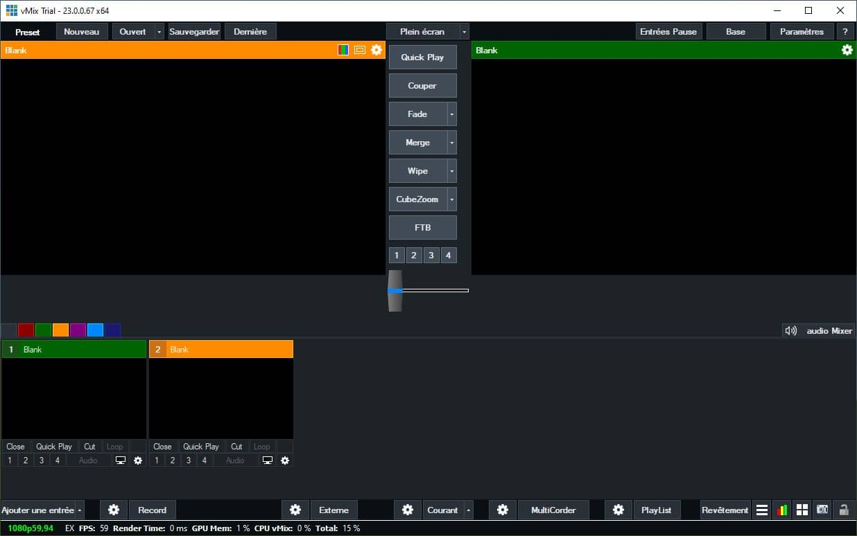 vMix logiciel diffusion live streaming