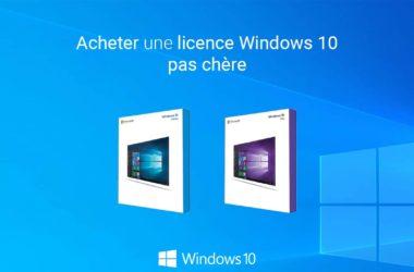 Acheter Windows 10 pas cher
