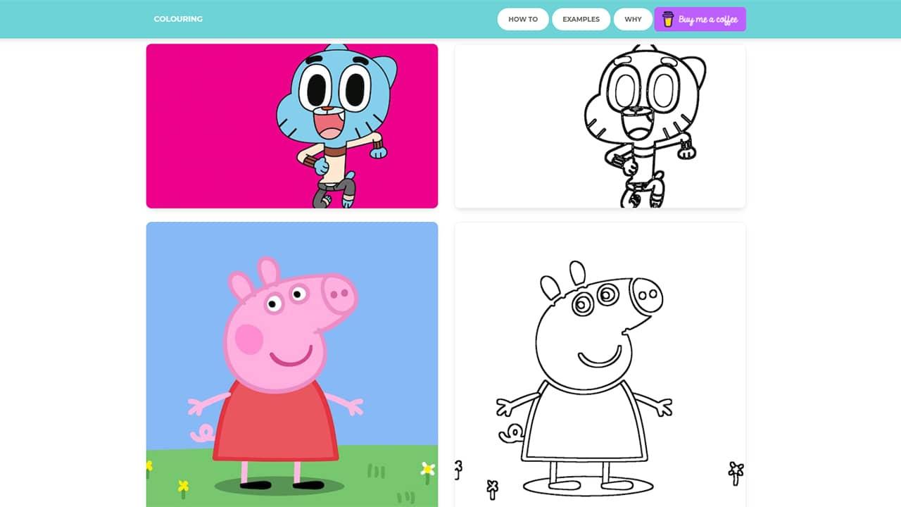 Colouring : transformer une image ou une photo en dessin à colorier