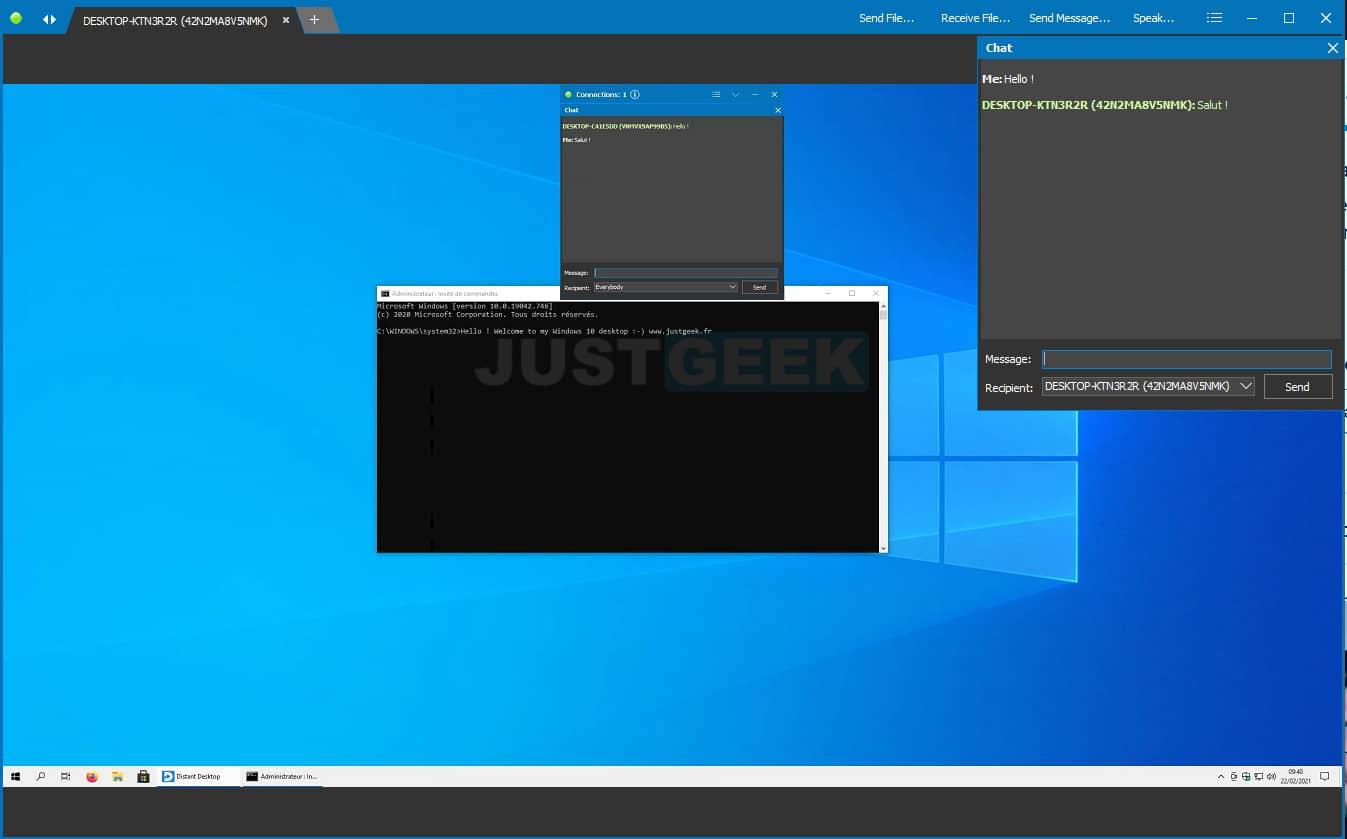 Accéder à un ordinateur à distance avec Distant Desktop