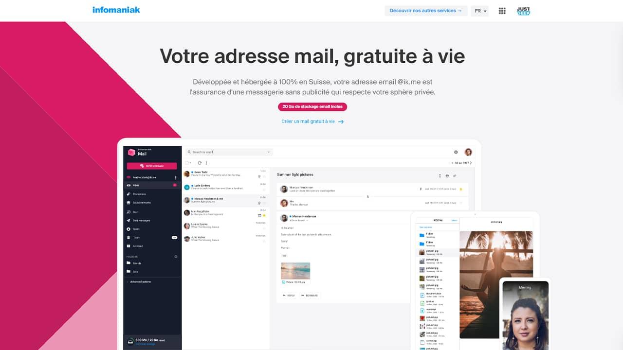 Ik.me : un service de messagerie respectueux de la vie privée par Infomaniak