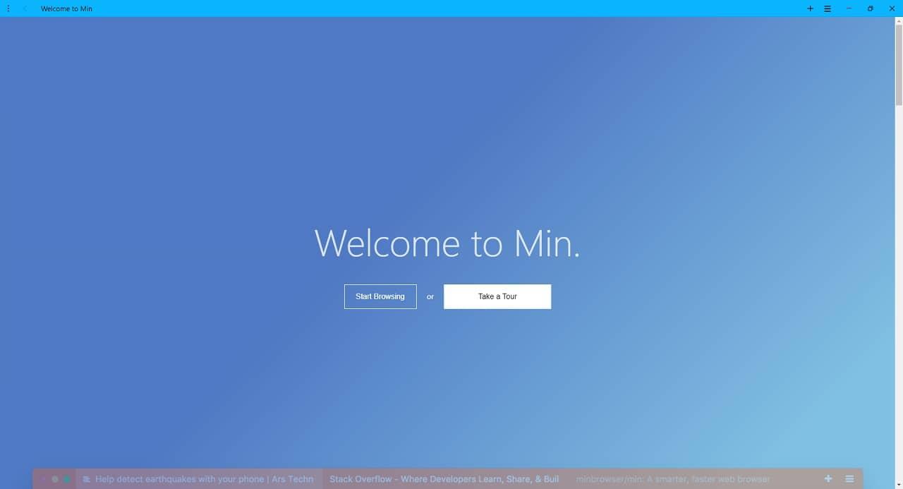 Min : un navigateur web léger et rapide