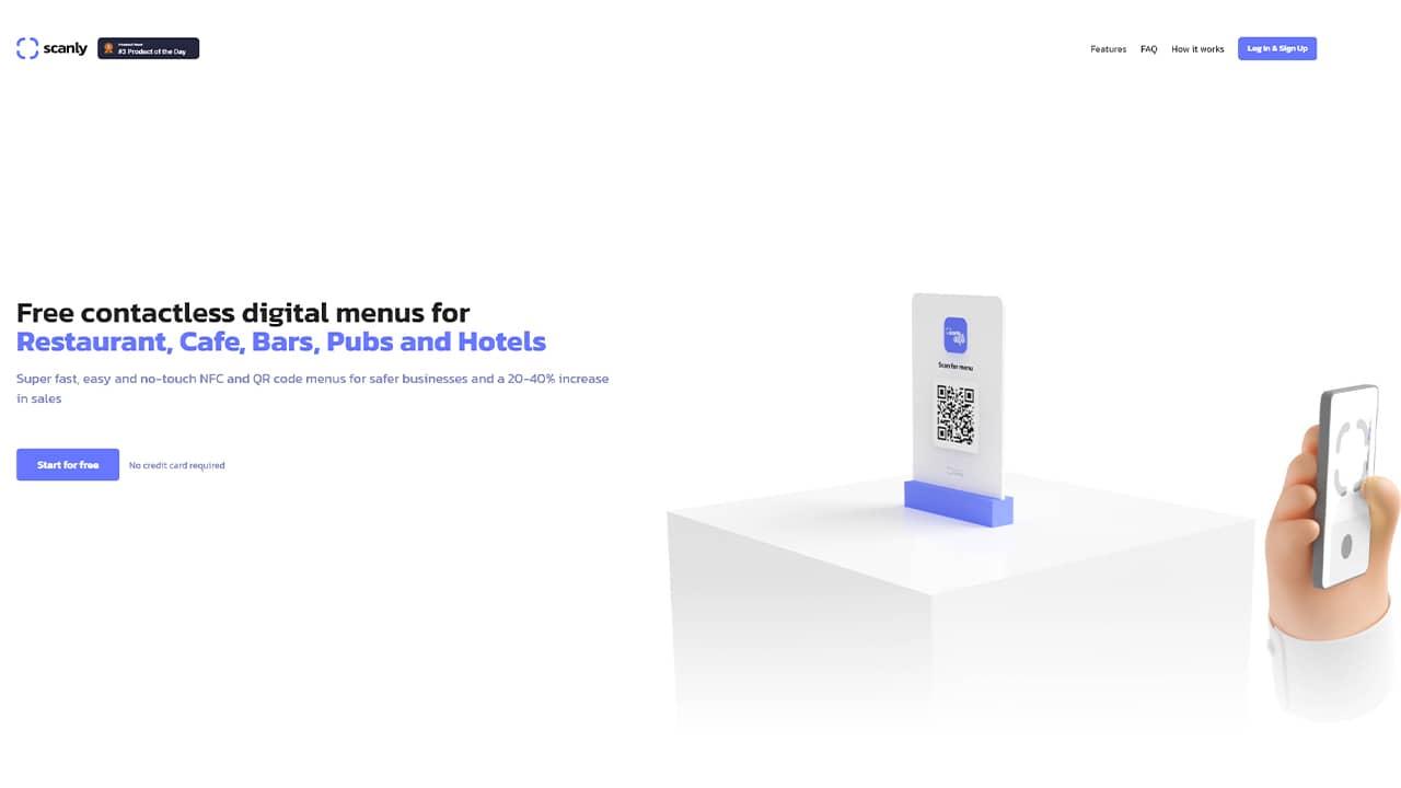 Scanly : créer un menu numérique gratuitement