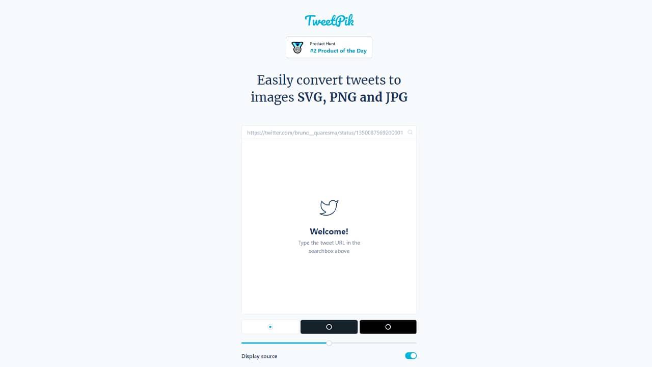 TweetPik : convertir tweets en image JPG, PNG ou SVG