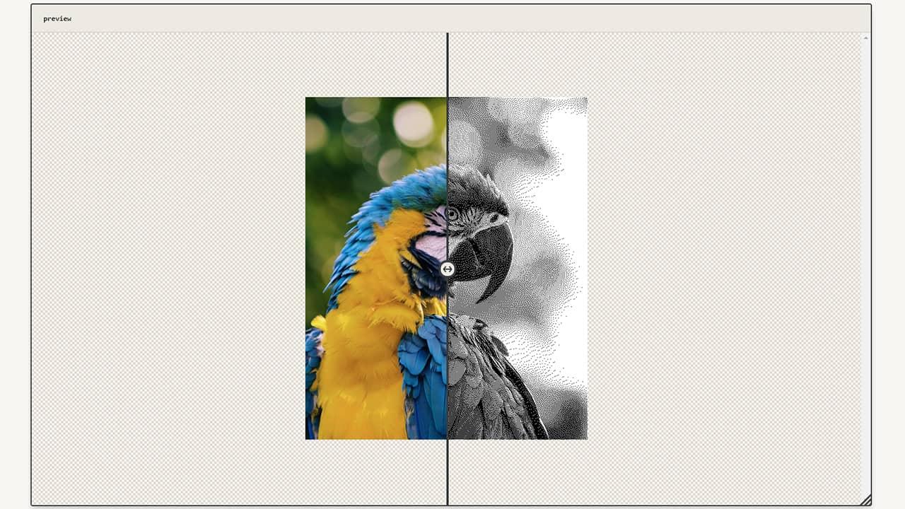 Exemple de filtre sur photo