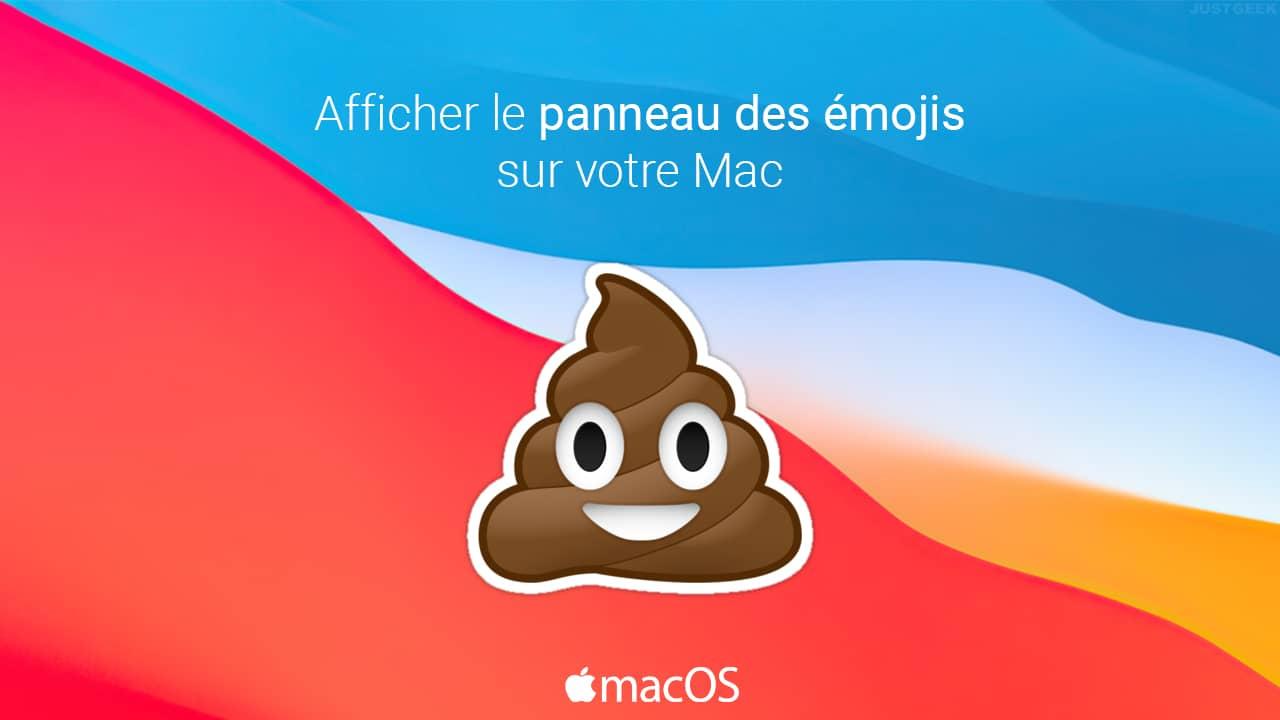 Afficher émoji sur Mac