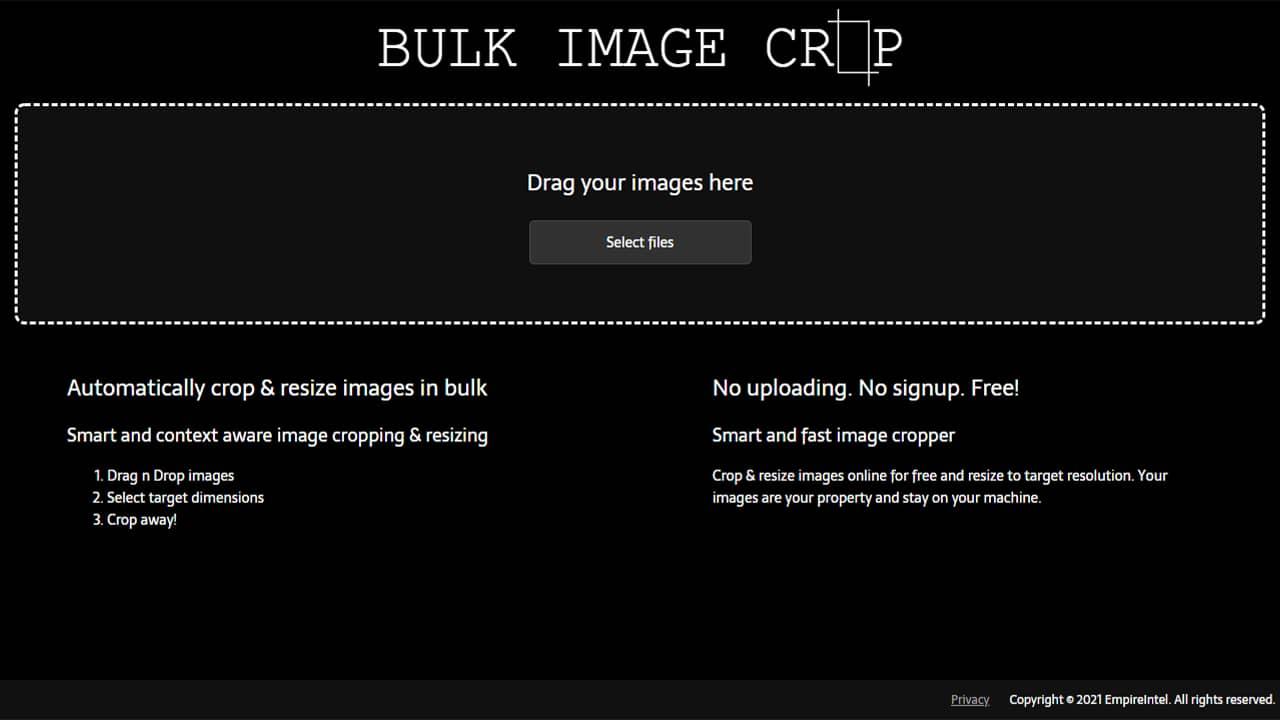 Recadrer des images par lots avec Bulk Image Crop