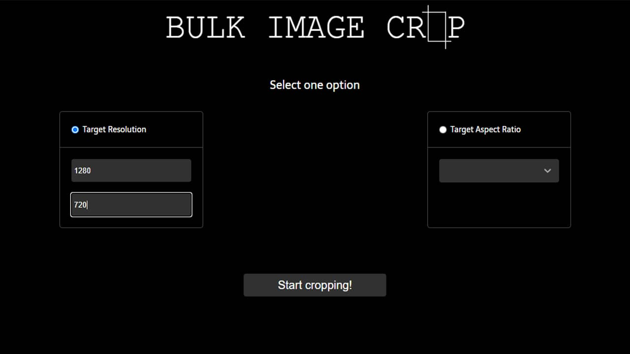 Redimensionner des images par lots avec Bulk Image Crop