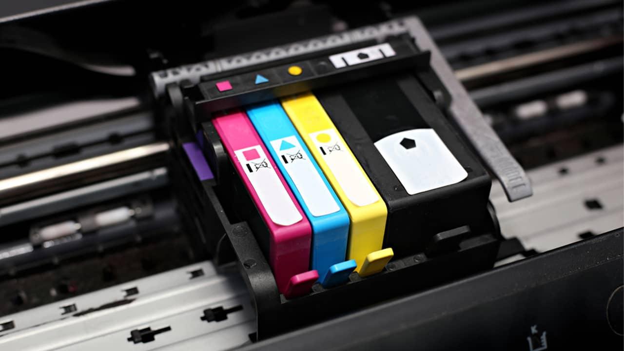 Cartouches d'encre dans imprimante
