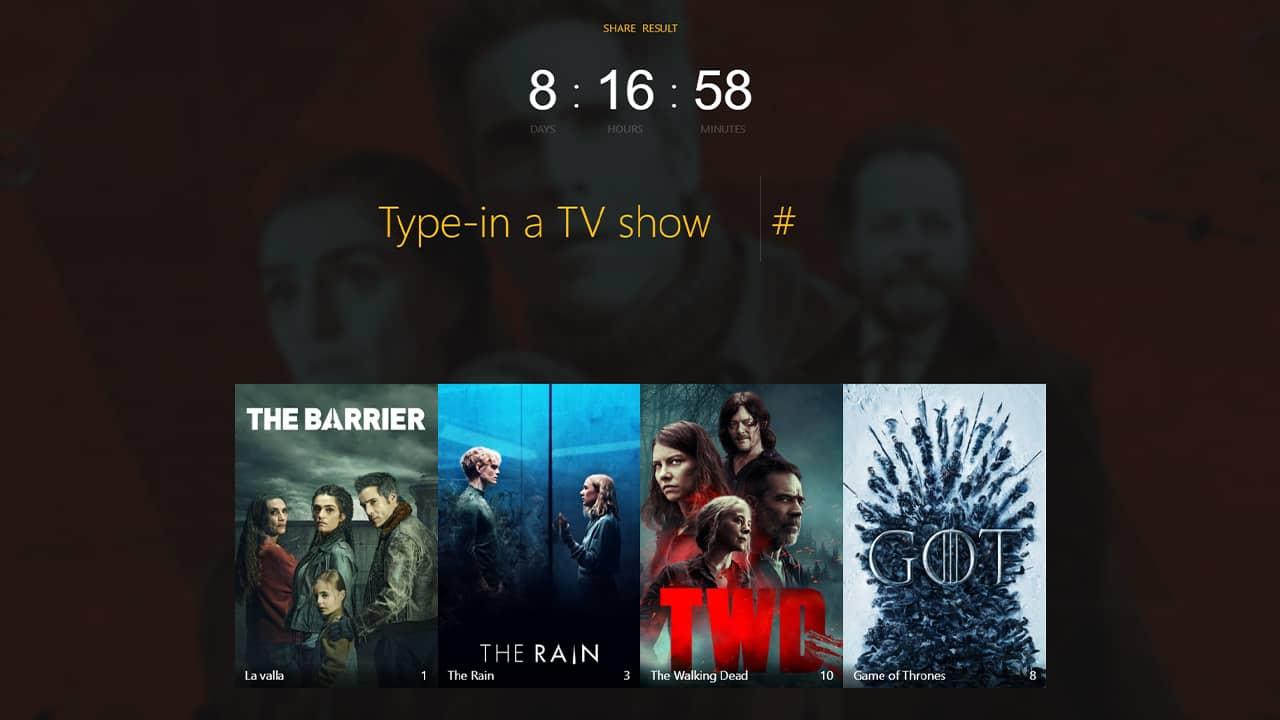 Connaître la durée de visionnage de plusieurs séries TV