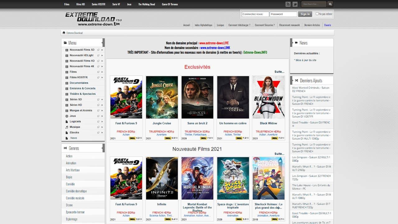 Extreme-down : site de téléchargement direct gratuit sans inscription