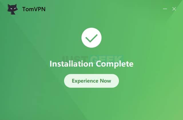 Installation TomVPN terminée