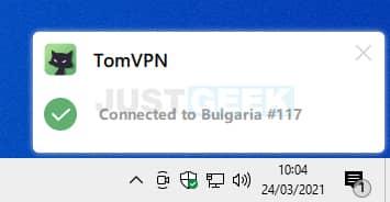 Connexion au serveur VPN via TomVPN
