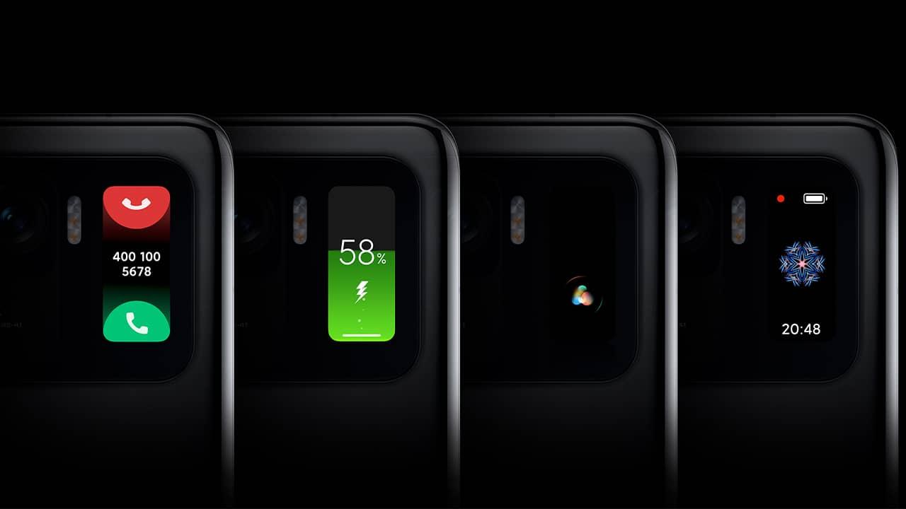 Notifications écran arrière Xiaomi Mi 11 Ultra