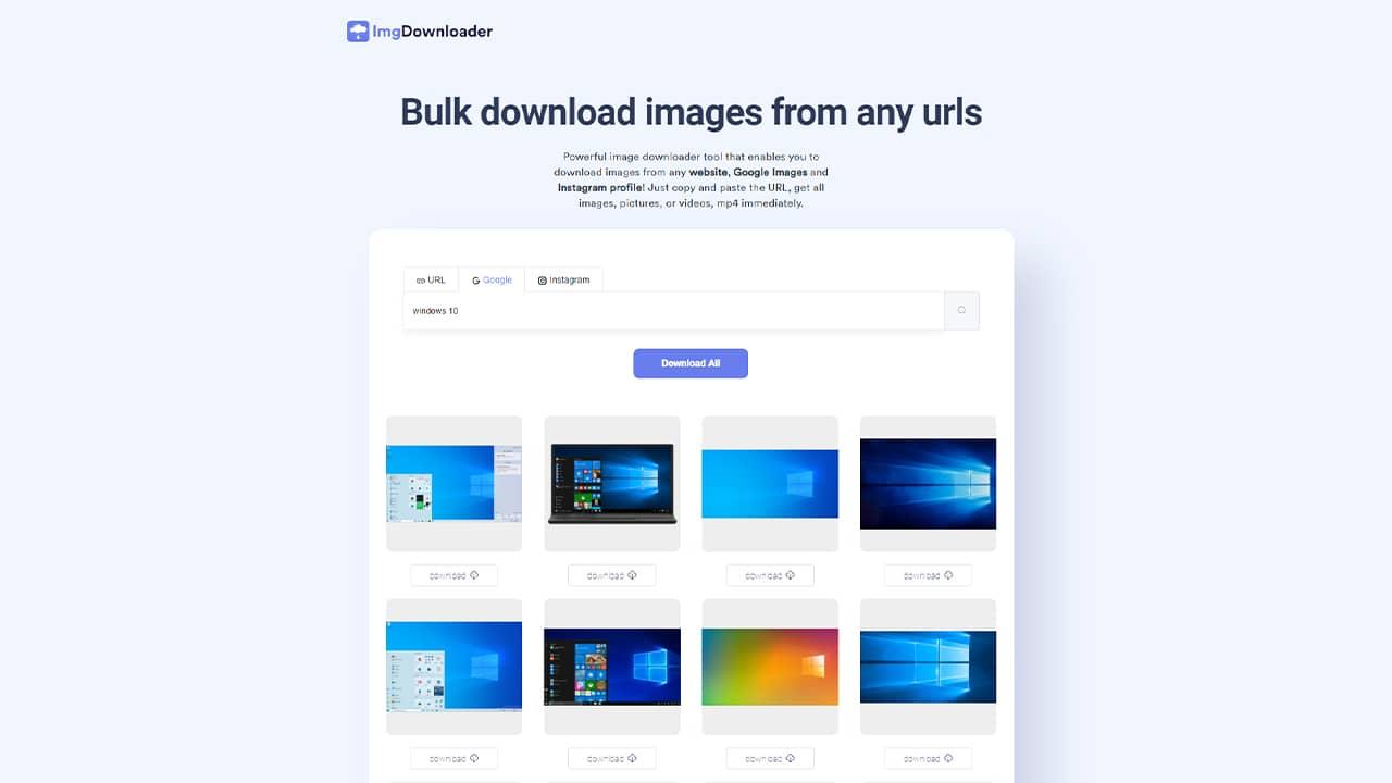 Télécharger rapidement les images indexées dans Google Images avec ImgDownloader