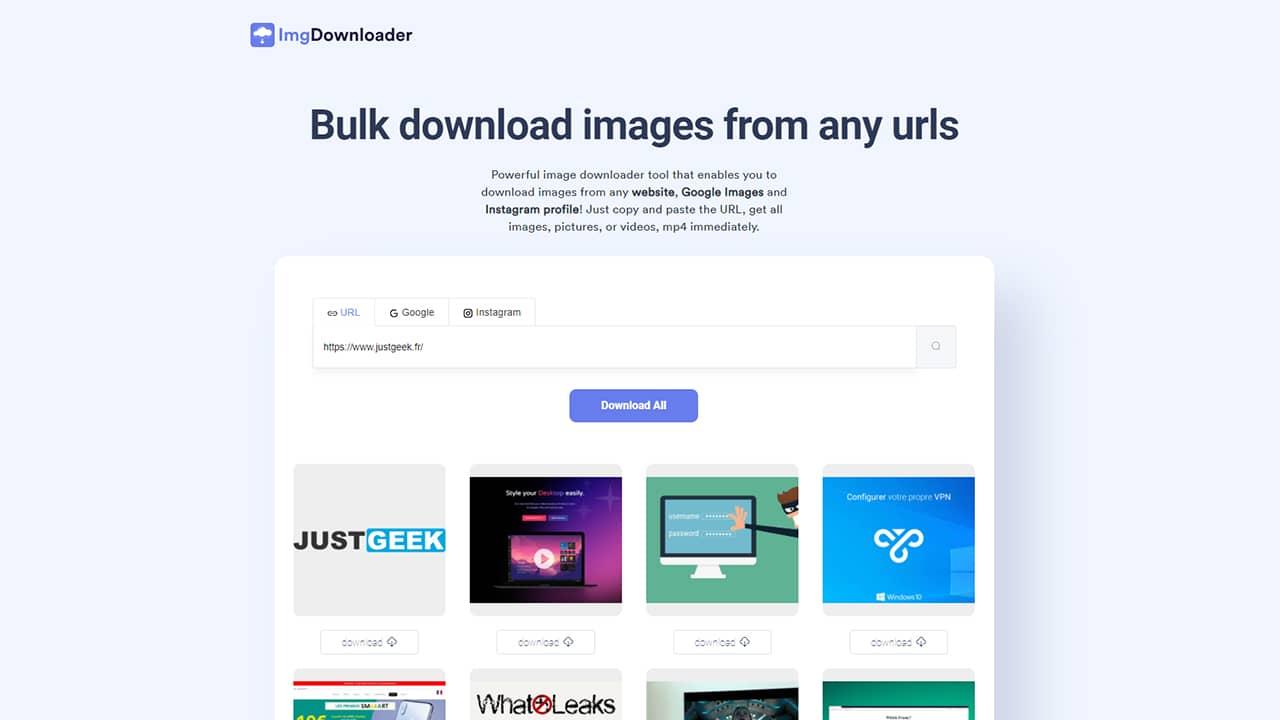 Télécharger les images de n'importe quel site web avec ImgDownloader