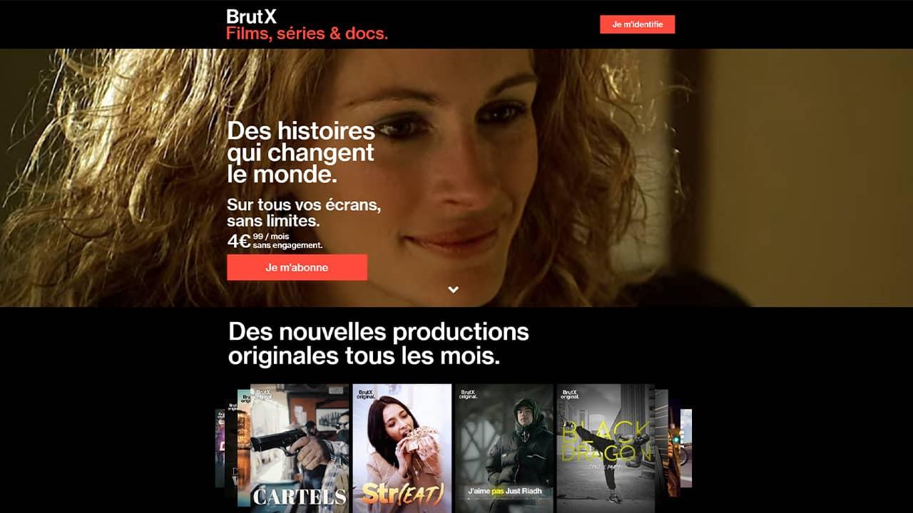 BrutX : nouveau service SvoD