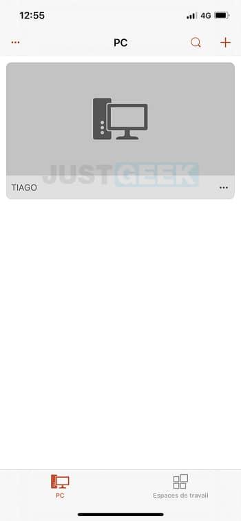 Connexion Bureau à distance sur iOS